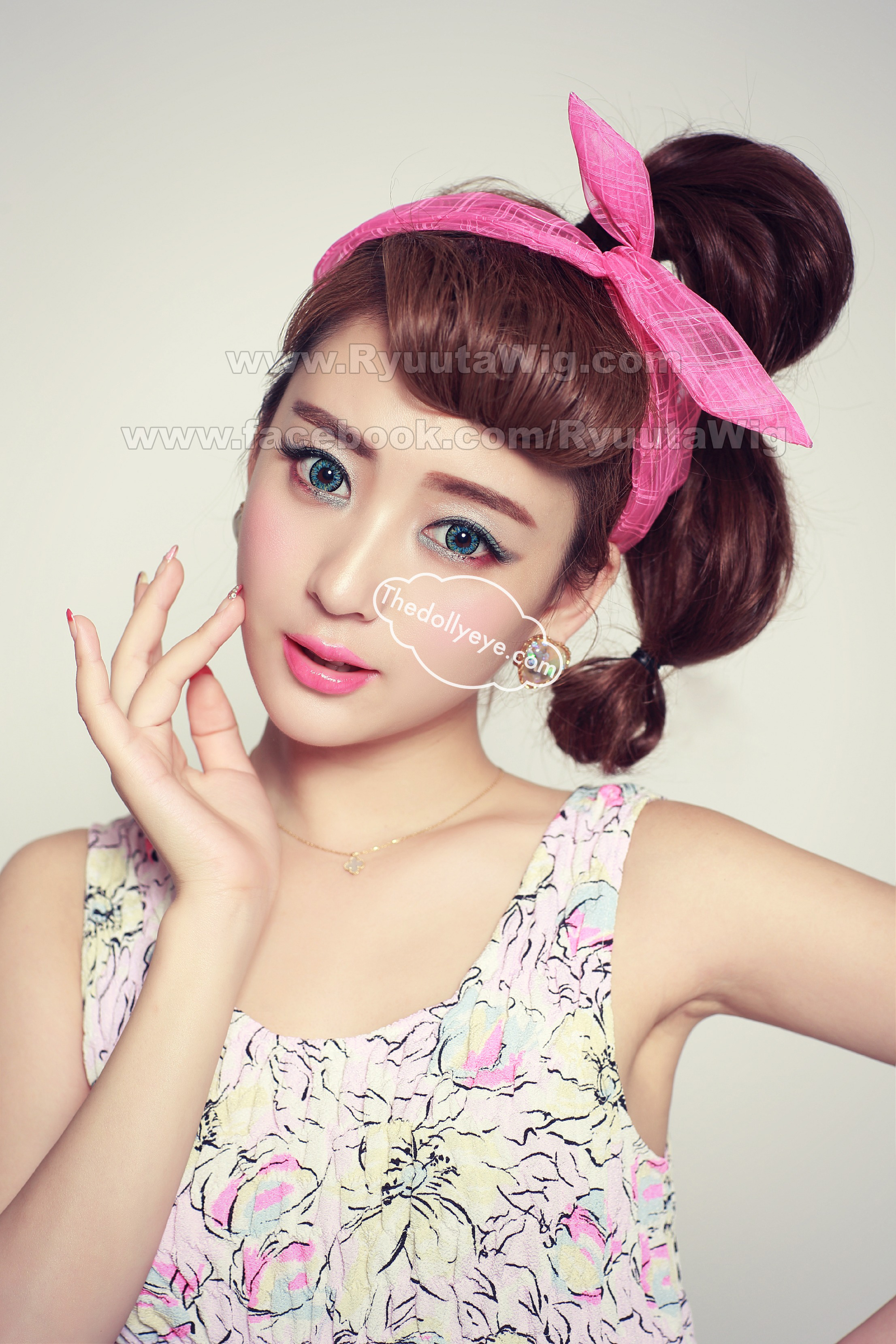 Dolly Eye Ryuuta Wig Hair Extensions Accessories Softlens Lovely Girl Sweety Black