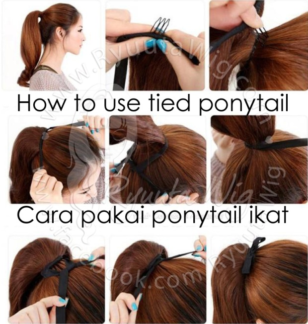 How to wear ryuuta wig hair extensions accessories how to wear tied ponytail pmusecretfo Gallery